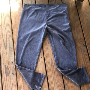 Cuddle Duds Soft Gray Velour Loungers-1X